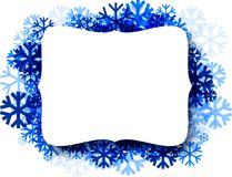 Winter background with blue snowflakes. White winter figured background with blue snowflakes. Vector illustration Royalty Free Stock Photography