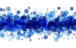 Winter background with blue snowflakes. Royalty Free Stock Photography