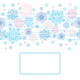 Winter background for card Stock Photo