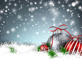Winter background with christmas balls. Royalty Free Stock Photos