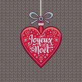 Winter background. Christmas Card. Joyeux Noel. Royalty Free Stock Image