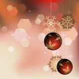 Winter background with Christmas decoration Stock Photo