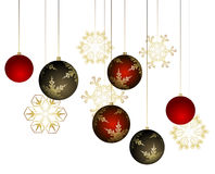 Winter background with christmas decoration Stock Image