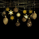 Winter background with christmas decoration Royalty Free Stock Image