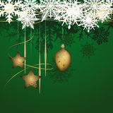 Winter background with christmas decoration Stock Photography