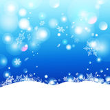 Winter background. Christmas  winter background with snow drifts Royalty Free Stock Photos