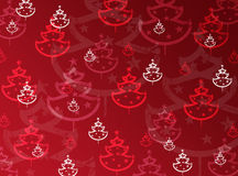 Winter background with christmas tree Stock Photography
