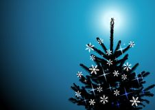 Winter background, christmas tree Stock Photography