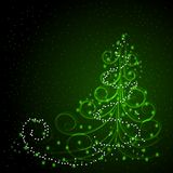 Winter background with Christmas tree Royalty Free Stock Photos