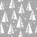 Winter background with Christmas trees Royalty Free Stock Image
