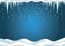 Winter background. Christmas Vector illustration. Royalty Free Stock Photos