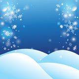 Winter background. Christmas vector winter background with snow drifts Stock Images