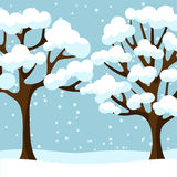 Winter background design with abstract stylized Royalty Free Stock Photo