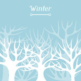 Winter background design with abstract stylized Stock Photo
