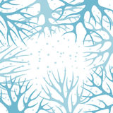 Winter background design with abstract stylized Royalty Free Stock Photos