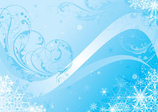 Winter background design Stock Image