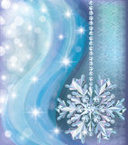 Winter background with diamond snow Stock Photos