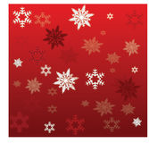 Winter background. With different snowflakes Stock Photos