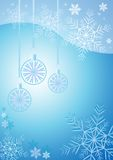 Winter background with different snowflakes and balls 2015. Vector illustration Stock Image