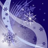 Winter background with different snowflakes 2015. Vector illustration Royalty Free Stock Photography