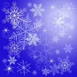 Winter background with different snowflakes 2015. Vector illustration Stock Image