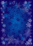 Winter background with different snowflakes 2015. Vector illustration Stock Photos
