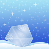 Winter background with envelope Stock Images