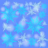 Winter background. Fallen defocused snowflakes. Christmas. Vector Royalty Free Illustration