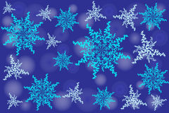 Winter background. Fallen defocused snowflakes. Christmas. Vector Stock Illustration