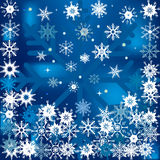 Winter background with falling snow Royalty Free Stock Image
