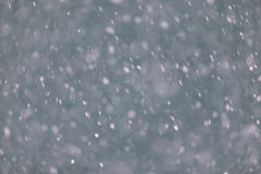 Winter background with falling snow. Snowfall storm Royalty Free Stock Images