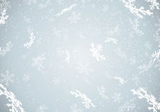 Winter background with falling snow and snowflakes Royalty Free Stock Photography