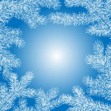 Winter background of fir branches. Christmas vector background with fir tree branches frame Royalty Free Stock Photography