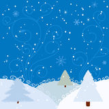 Winter background with firs Royalty Free Stock Image