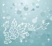 Winter background with floral branch Stock Photos