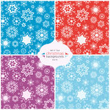 Winter background in four colors. Seamless vector pattern. Royalty Free Stock Photo