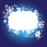 Winter background with frame for your congratulations and with s Royalty Free Stock Images