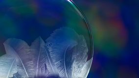 Christmas Snow Globe Snowflake on Blue Animation Background stock video footage