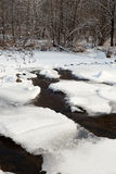 Winter background with a frozen river Stock Photography