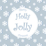 Winter background with glowing snowflakes.Great. Winter background with glowing snowflakes..Great holiday design for New Year greeting cards, posters and flyers Stock Photography
