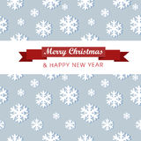 Winter background with glowing snowflakes.Great Royalty Free Stock Photos