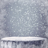 Winter background Graphics winter snow frost projectsspace text Stock Photo