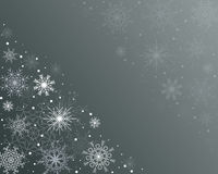 Winter background. Gray-green winter background with snowflakes Stock Photos