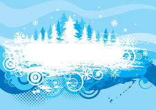Winter background grunge design Royalty Free Stock Photo