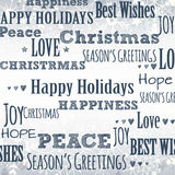Winter Background with Holiday Greetings Stock Photo