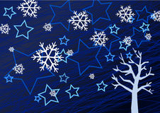 Winter background illustration Royalty Free Stock Images
