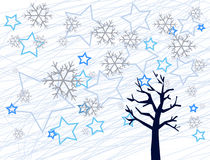 Winter background illustration Stock Image
