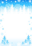 Winter background (light) Royalty Free Stock Photo