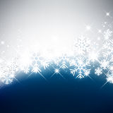Winter Background. Winter luminous background with snowflakes. Vector Illustration Stock Photo