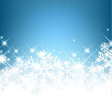 Winter Background. Winter luminous background with snowflakes. Vector Illustration Royalty Free Stock Photo